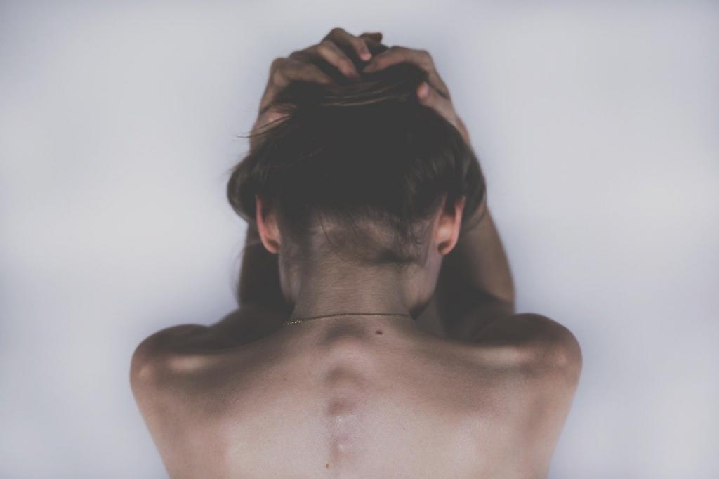 Die Rücken Nacken Schulter Massage